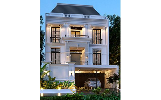 Desain Rumah Classic 3 Lantai Ibu Juli di  Jakarta