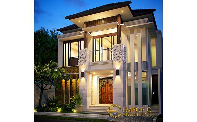Desain Rumah Villa Bali 2 Lantai Ibu Katrina di  Depok, Jawa Barat
