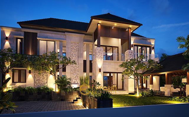 Desain Rumah Villa Bali 2 Lantai Ibu Melly di  Jakarta
