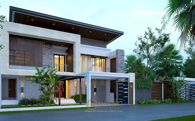 Desain Rumah Modern 2 Lantai Ibu Noni di  Jakarta