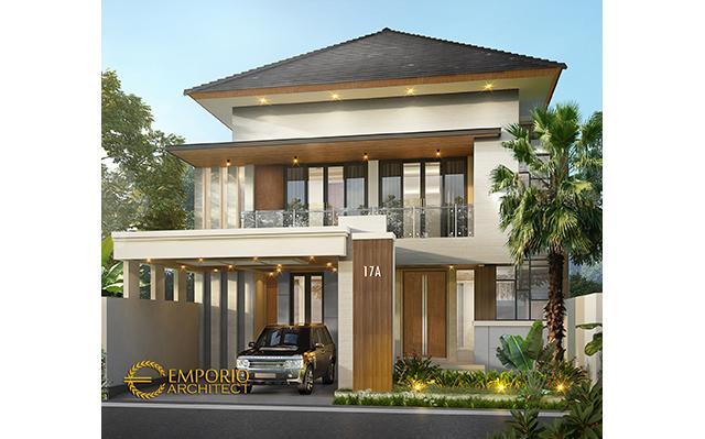 Desain Rumah Modern 2 Lantai Ibu Rida di  Jakarta