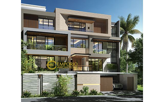 Desain Rumah Modern 4 Lantai Ibu Suwaty di  Jakarta