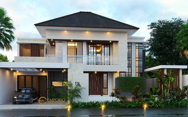 Desain Rumah Modern 2 Lantai Ibu Tami di  Jakarta