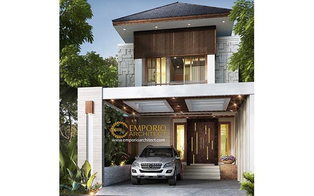 Desain Rumah Villa Bali 2 Lantai Ibu Wulan di  Jakarta