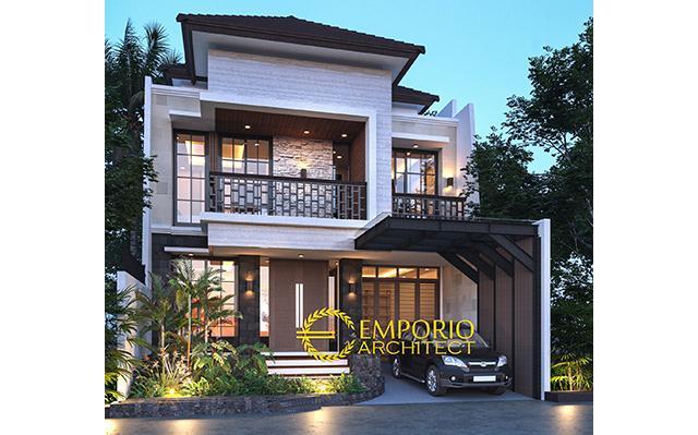 Desain Rumah Modern 2 Lantai Ibu Dyah di  Jakarta