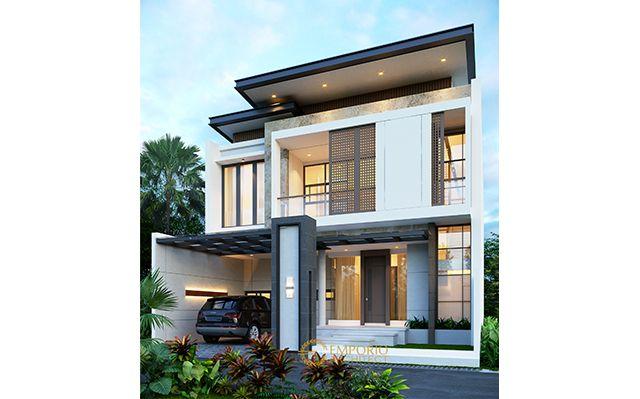 Desain Rumah Modern 2 Lantai Ibu Mega di  Jakarta