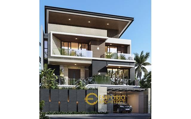 Desain Rumah Modern 3 Lantai Bapak Bambang di  Jakarta
