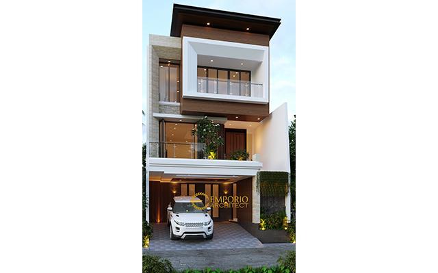 Desain Rumah Modern 3 Lantai Bapak Daud di  Jakarta Barat