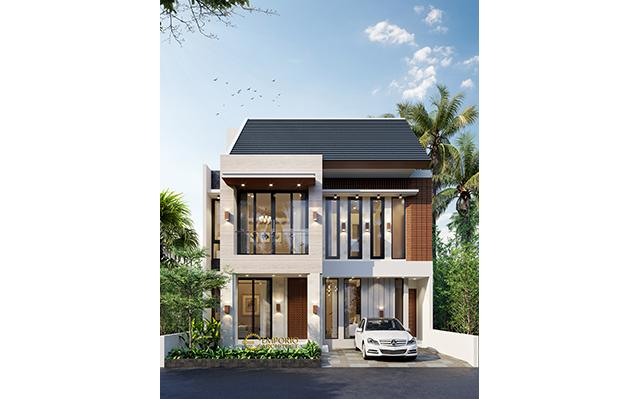 Desain Rumah Modern 3 Lantai Ibu Melly di  Jakarta