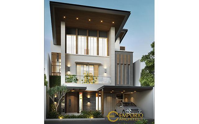 Desain Rumah Modern 3 Lantai Ibu Dewi di  Jakarta