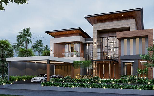Desain Rumah Modern 2 Lantai Mrs. J di  Jakarta
