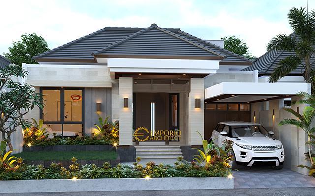 Desain Rumah Villa Bali 1.5 Lantai Bapak Ronald di  Jakarta