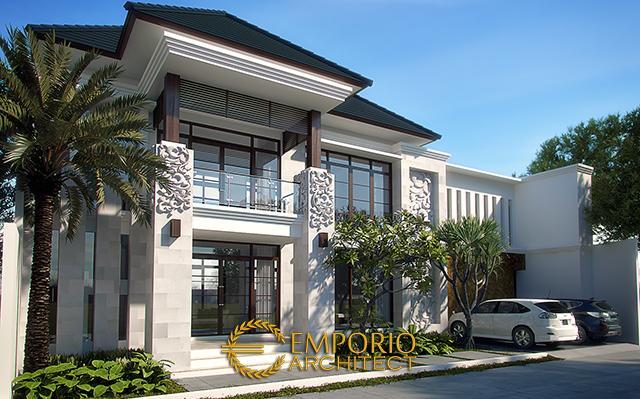 Desain Rumah Villa Bali 2 Lantai Bapak Wandi Yahya di  Jakarta