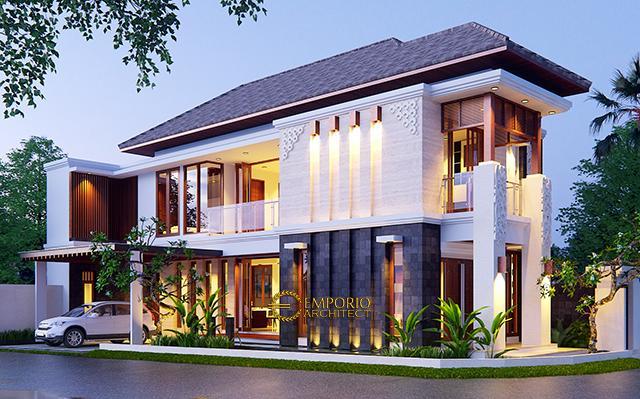 Desain Rumah Hook Villa Bali 2 Lantai Bapak Oki di  Jakarta Pusat