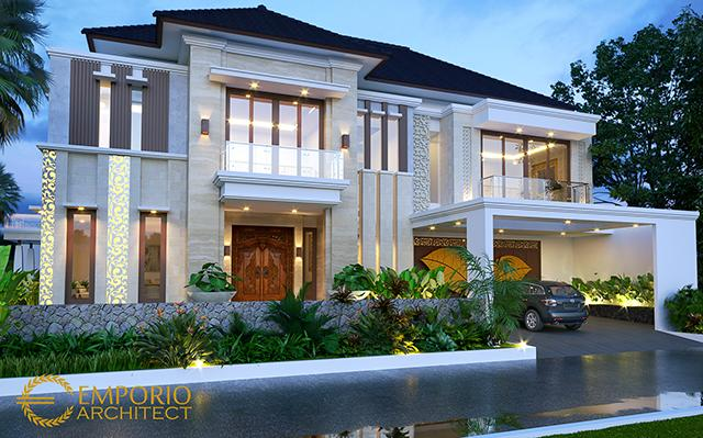 Desain Rumah Villa Bali 2.5 Lantai Bapak Arif di  Jakarta Selatan