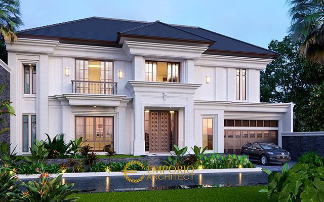 Desain Rumah Classic 2 Lantai Bapak Ito di  Jakarta Selatan