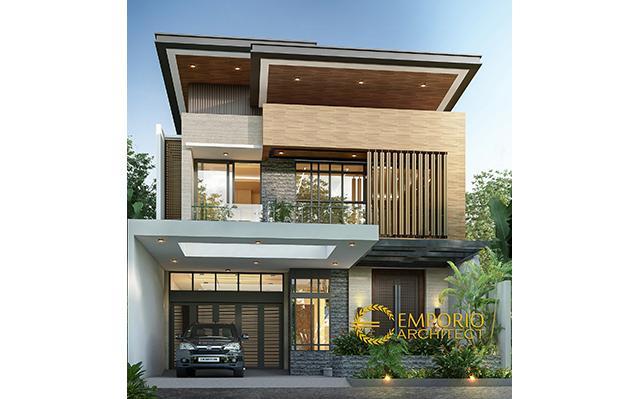 Desain Rumah Modern 2 Lantai Bapak Prasetyo di  Jakarta Selatan