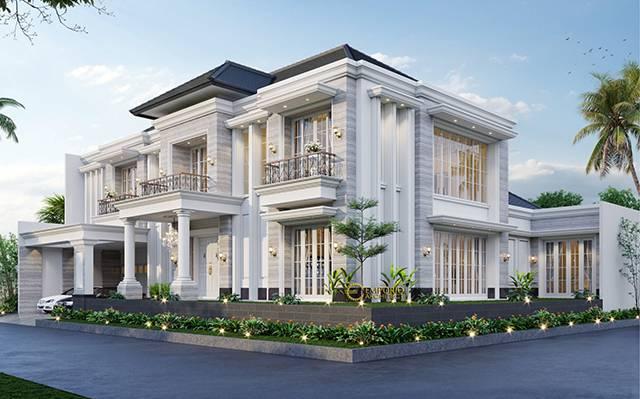 Desain Rumah Hook Classic 2 Lantai Ibu Hera di  Jakarta Selatan