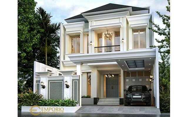 Desain Rumah Classic 3 Lantai Bapak Rico di  Jakarta Selatan