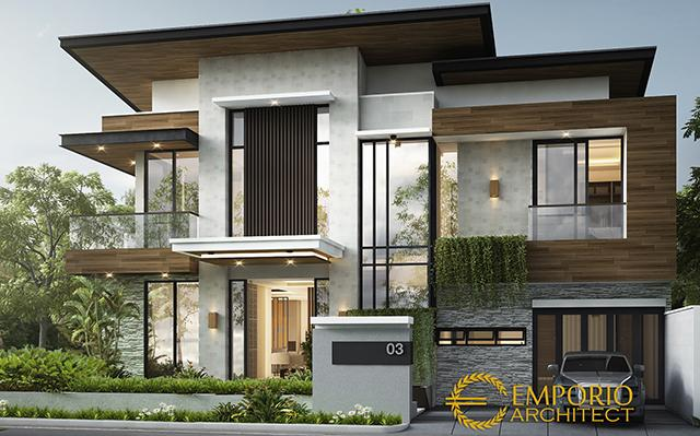 Desain Rumah Hook Modern 2 Lantai Ibu Lidwina di  Jakarta Selatan