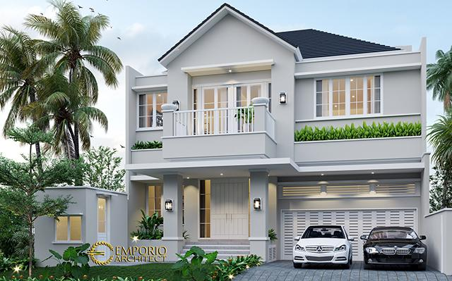 Desain Rumah Modern 2 Lantai Ibu Quisty di  Jakarta Selatan
