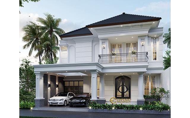Desain Rumah Classic 2 Lantai Ibu S di  Jakarta Selatan