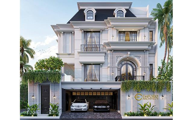 Mrs. Olive Mediteran House 3.5 Floors Design - Jakarta Selatan