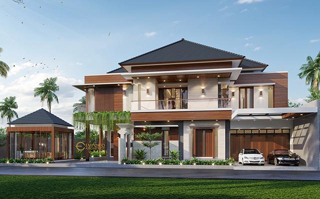Desain Rumah Modern 2 Lantai Ibu Ella di  Jakarta Selatan