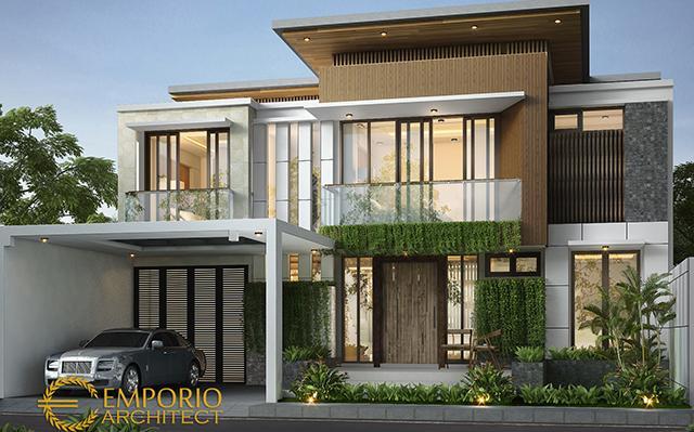 Desain Rumah Modern 2 Lantai Bapak Agus di  Jakarta Timur