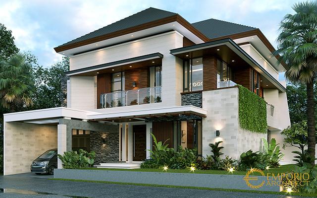 Desain Rumah Modern 2 Lantai Bapak Dodik di  Jakarta Timur