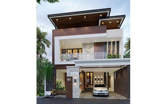 Desain Rumah Modern 3 Lantai Bapak Donny di  Jakarta Timur