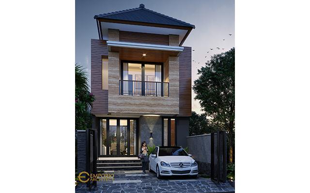 Desain Rumah Modern 2 Lantai Bapak Fahmi di  Jakarta Timur