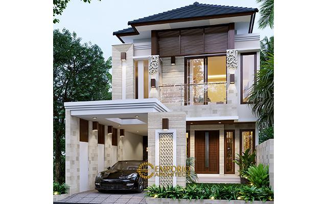 Desain Rumah Villa Bali 2 Lantai Bapak Frenky di  Jakarta Timur