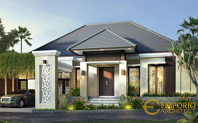 Desain Rumah Villa Bali 2 Lantai Bapak Gondo di  Jakarta Timur