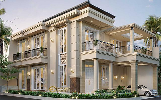 Desain Rumah Hook Classic 3 Lantai Bapak Will Hans di  Jakarta Timur
