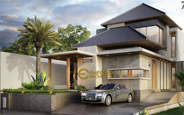 Desain Rumah Modern 2 Lantai Ibu Epi di  Jakarta Timur