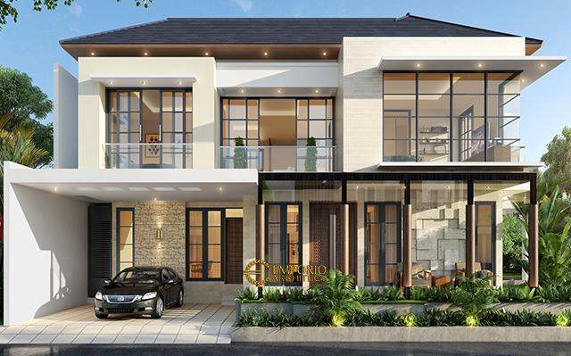 Desain Rumah Hook Modern 2 Lantai Ibu Maria di  Jakarta Timur
