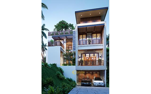 Desain Rumah Modern 3 Lantai Ibu Novi di  Jakarta Timur