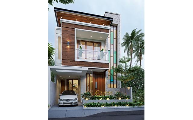 Desain Rumah Modern 2 Lantai Ibu Veny di  Jakarta Timur
