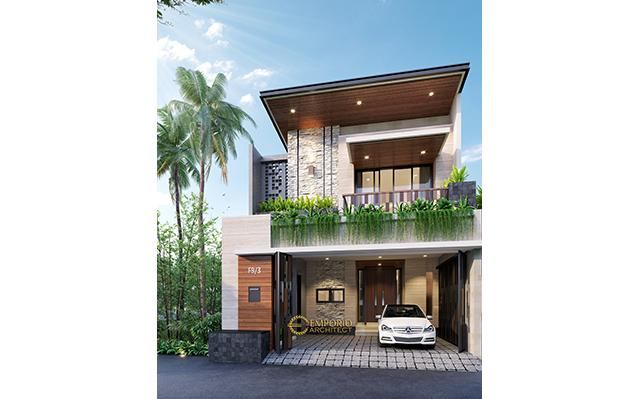 Desain Rumah Modern 2 Lantai Bapak Andri di  Jakarta Timur