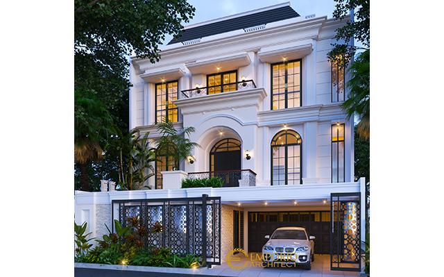 Desain Rumah Mediteran 3 Lantai Ibu Febe di  Rawamangun, Jakarta Timur