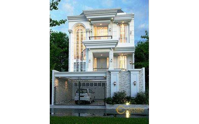 Desain Rumah Classic 3.5 Lantai Ibu Carmel di  Jakarta Utara