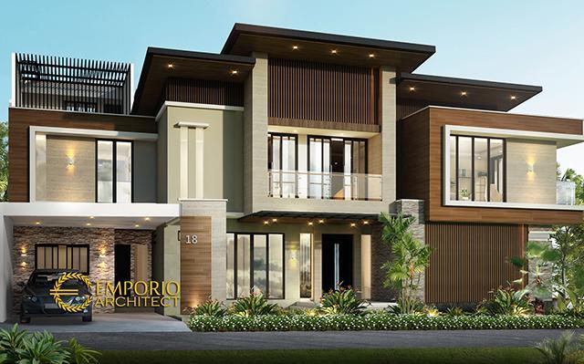 Desain Rumah Hook Modern 2 Lantai Ibu Emil di  Jakarta Utara