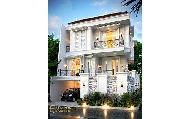 Mrs. Fitri Classic House 3.5 Floors Design - Jakarta Utara