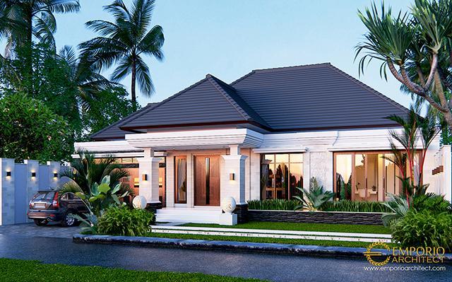 Desain Rumah Villa Bali 1 Lantai Bapak Marno di  Jambi