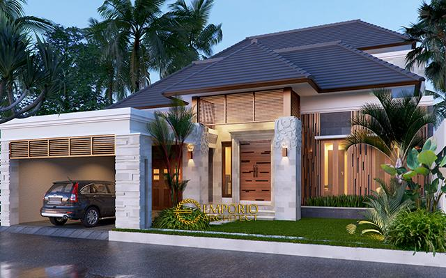 Desain Rumah Villa Bali 2 Lantai Bapak Dwi Harsono di  Jawa Tengah