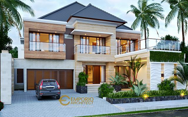Desain Rumah Modern 2 Lantai Bapak Suhardjanto di  Jawa Tengah