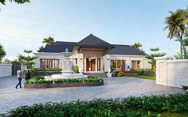 Mr. Taufan Villa Bali House 1 Floor Design - Jember, Jawa Timur