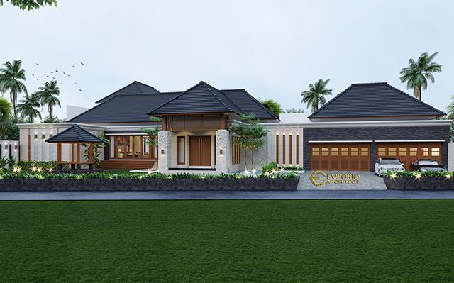 Desain Rumah Villa Bali 1 Lantai Ibu Adityan di  Kalimantan Timur