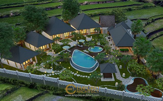 Desain Bungalow Villa Bali 1 Lantai Ibu Lis di  Karangasem, Bali